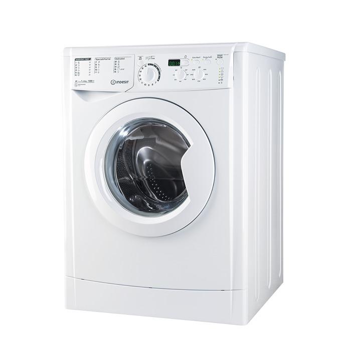 Перална машина Indesit EWSD 61051 W EU, клас А+, 6 кг. капацитет, 1000 оборота в минута, свободностояща, 60 cm. ширина, дисплей, бяла  image
