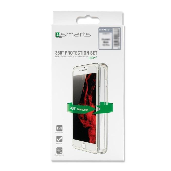 Калъф за OnePlus 6, TPU, 4smarts 360° Protection Set, с протектор 0.3mm, прозрачен image