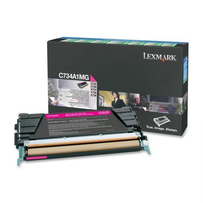 КАСЕТА ЗА LEXMARK OPTRA C734/C736/X734/X736/X738 - Magenta - P№ C734A1MG - заб.: 6000k image