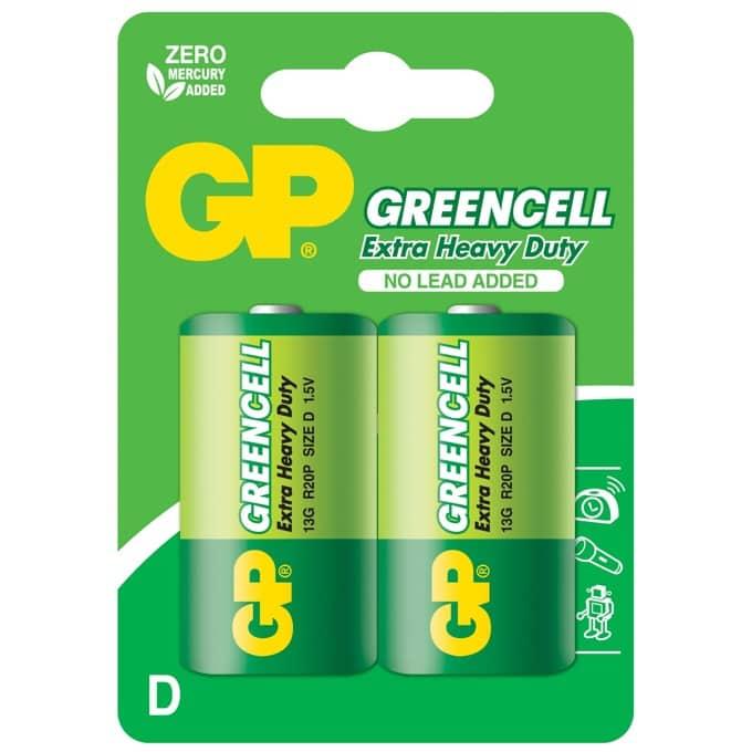 Цинк карбонова батерия GP R20 Greencell