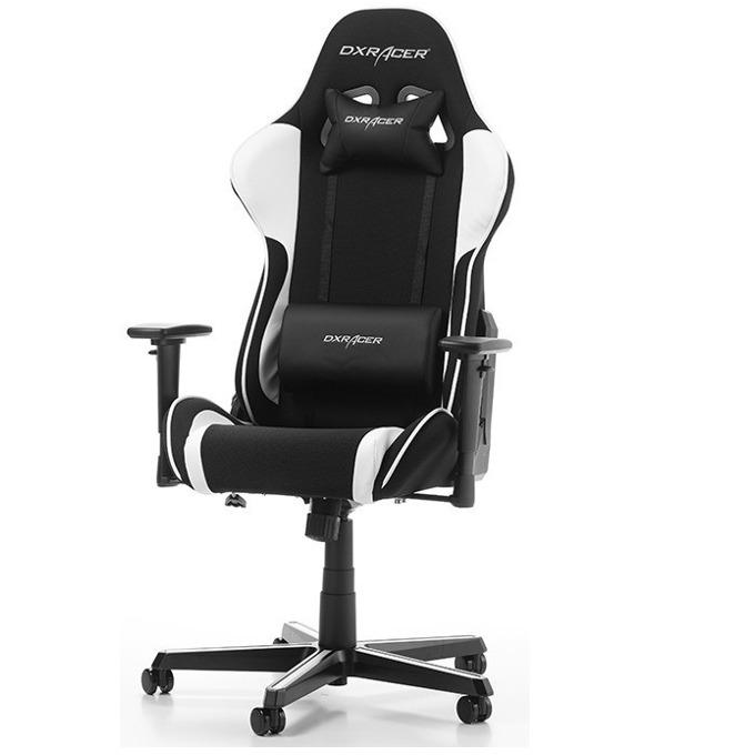 Геймърски стол DXRacer Formula OH/FH11/NW, черен/бял image