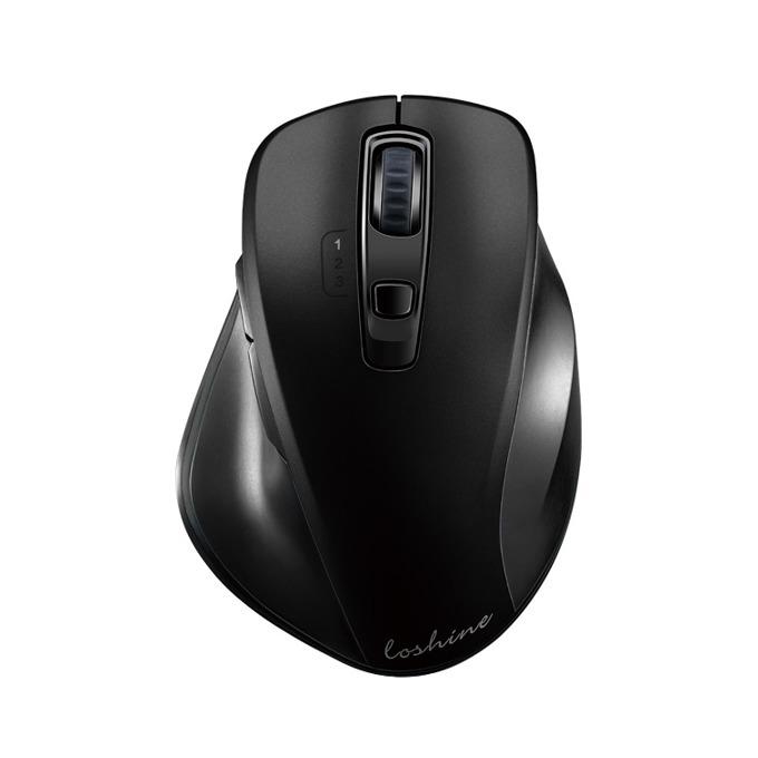 Мишка Loshine X70, безжична, оптична(1600 dpi), Bluetooth/USB, черна, image
