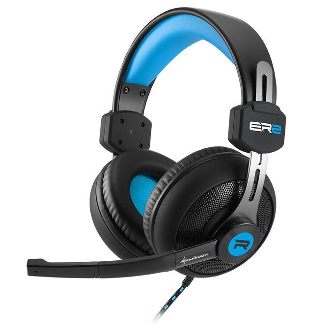 Слушалки Sharkoon Rush ER2 Blue, микрофон, 20 Hz - 20 kHz, черни image