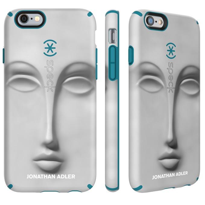 Страничен протектор с гръб Speck Candyshell Inked Johnathan Adler за iPhone 6S Plus, бял/син image