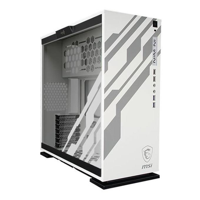 ATX/mATX/ITX INWIN 303 MSI DRAGON, 2x USB3.0(type A), Supports Liquid Cooling System, бял, без захранване image