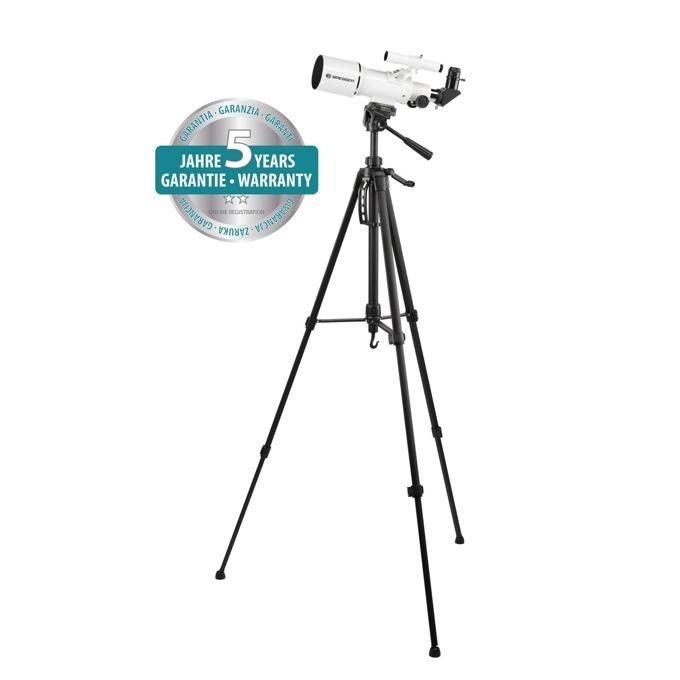 Телескоп Bresser Classic 70/350 AZ, 18-140x оптично увеличение, с поставка за телефон, бял image