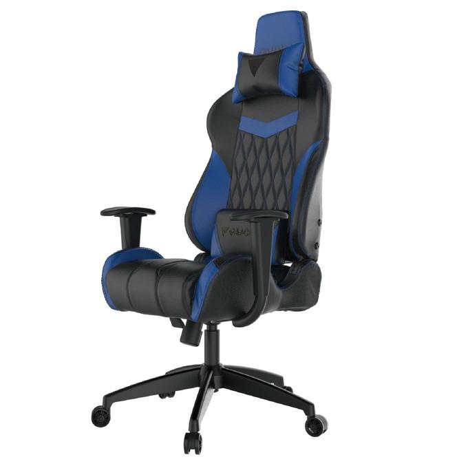 Геймърски стол Gamdias Achilles E2-L, кожа, до 200kg, черен/син image