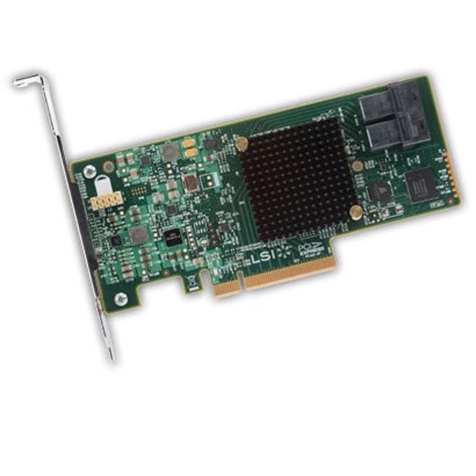RAID Контролер LSI MegaRAID SAS 9341-8i, PCI-E 3.0 към mini-SAS (SFF8643), SATA/SAS 12Gb/s, 2 портов, поддържа RAID 0, 1, 5, 10, 50 and JBOD mode image