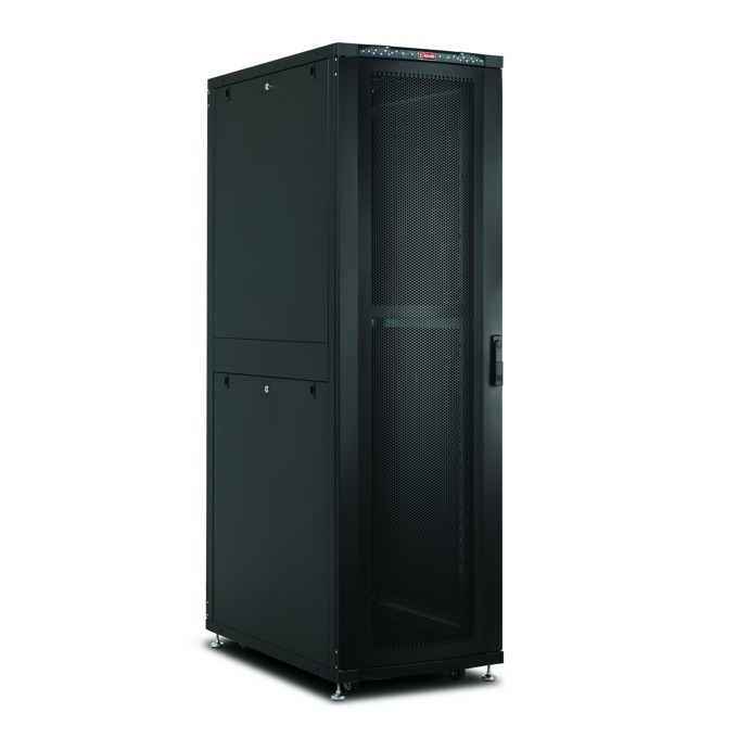 "Комуникационен шкаф Lande LN-SR47U6010-BL-111, 19"", 47U, 600 x 1000 мм, черен image"
