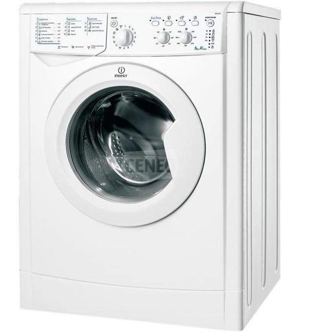 Перална машина Indesit IWC 61051 EU, клас A+, 6 кг. капацитет, 1000 оборота в минута, свободностояща, 60 cm. ширина, LED индикатори, бяла image
