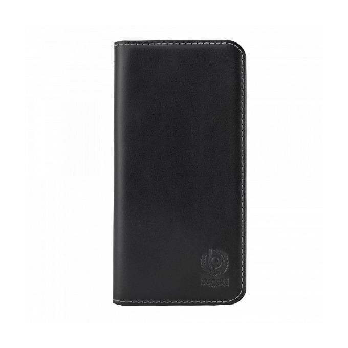 Калъф за Apple iPhone 6, отваряем, естествена кожа, Bugatti BookCover Oslo, черен image