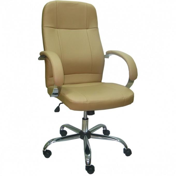 Директорски стол Relax Steel, ергономични седалка/облегалка, метални подлакътници, люлеещ механизъм, бежов image