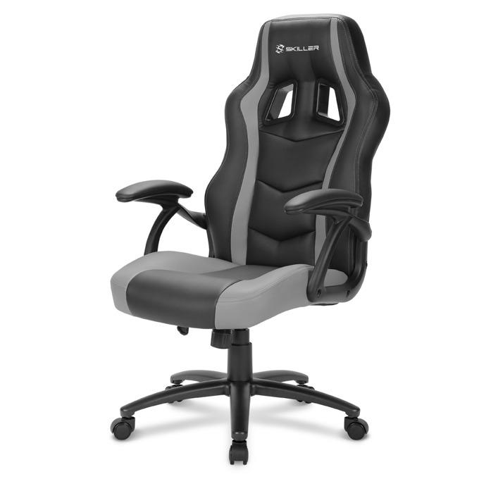 Геймърски стол Sharkoon Skiller SGS1, газов амортисьор, максимално количество до 100кг черен/сив image