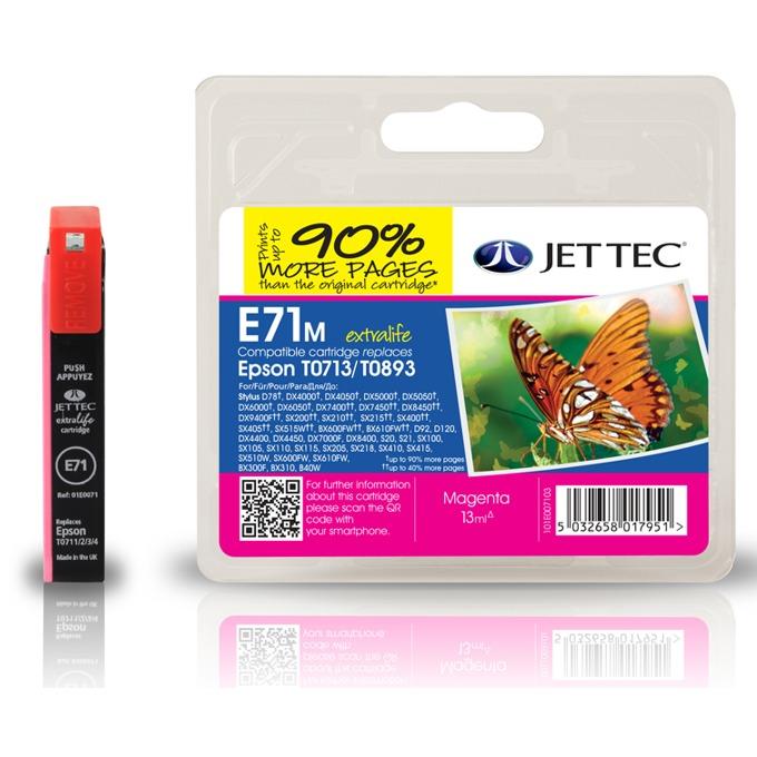 Глава за Epson T071340 - Magenta - Неоригинална - Jet Tec - Заб.: 5.5 ml image
