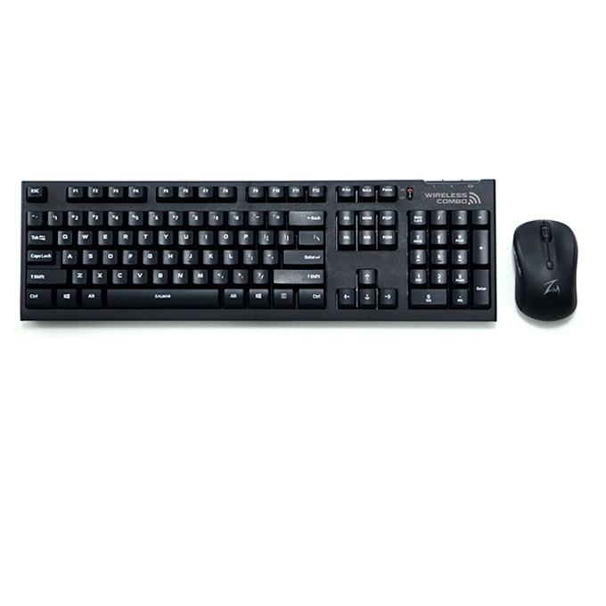 Zalman ZM-KM870RF безжична мишка и клавиатура, до 10м обхват, 1500 dpi, USB, черни image