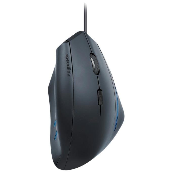 Мишка Speedlink Manejo, оптична 1600 dpi, USB, геймърска, черен image