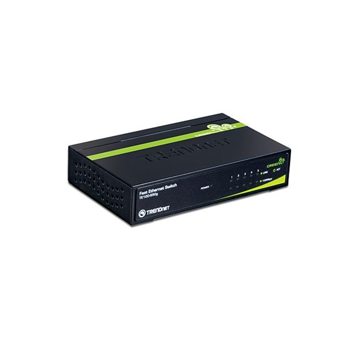 Суич TRENDnet TE100-S50G, 5 Port 100Mbps, GREENnet  image