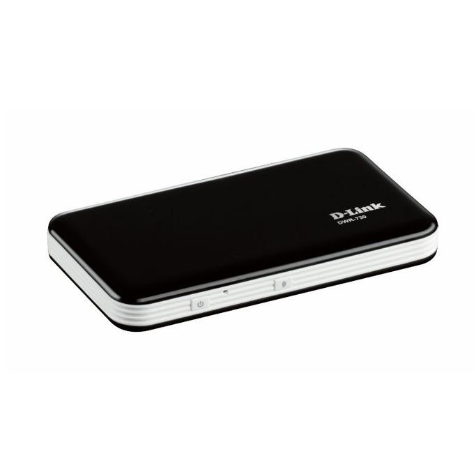 Рутер D-Link DWR-730, 3G, мобилен, 21.6Mbps, Wireless G, 1x USIM card, 1x microSD card, 1x microUSB, 3x вътрешни антени, 2000mAh батерия image