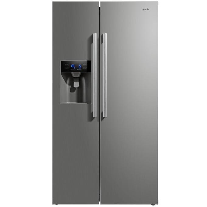 Хладилник с фризер Arielli ARC-660WEN, клас А+, 490 л. общ обем, свободностоящ, 409 kWh/годишно, автоматично размразяване, диспенсър за вода, инокс image