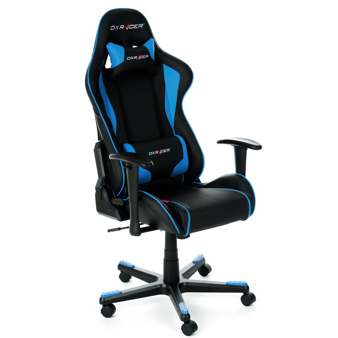 DXRacer F series chair - черен/син  image