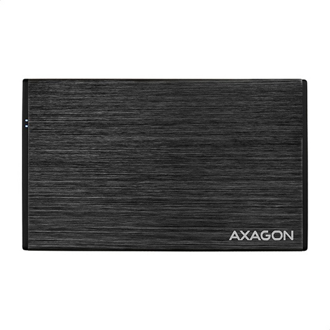 """Външна кутия за харддиск Axagon EE25-XA3, поддържа 2.5"""" HDD/SSD, от SATA II 3Gb/s, към USB 3.0 Mini-B, черна image"""