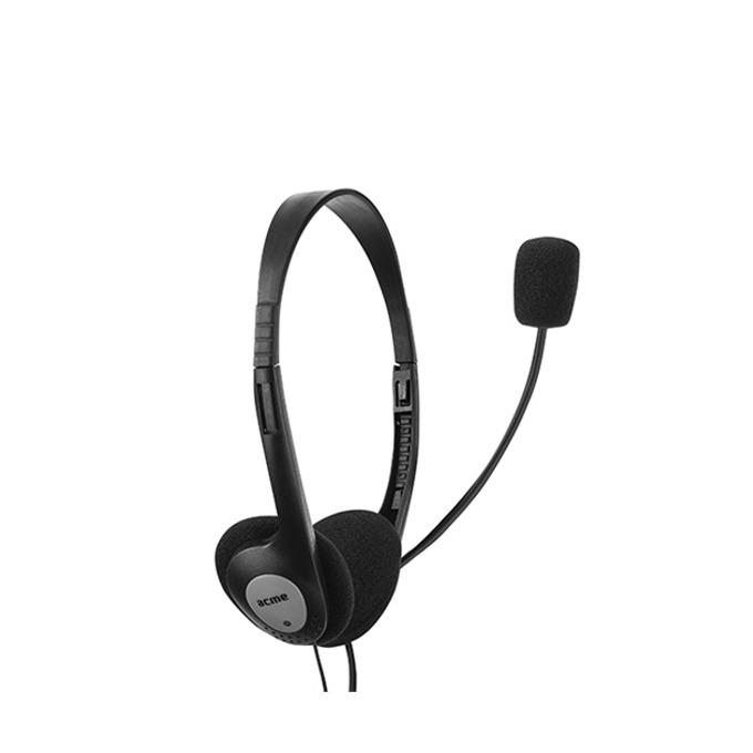 Слушалки Acme CD602, микрофон, 20 Hz – 20 kHz, 1.75m кабел, черни image