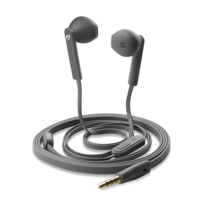 Слушалки Cellular Line АР MANTIS, микрофон, плосък кабел, 3,5 мм жак, сиви image