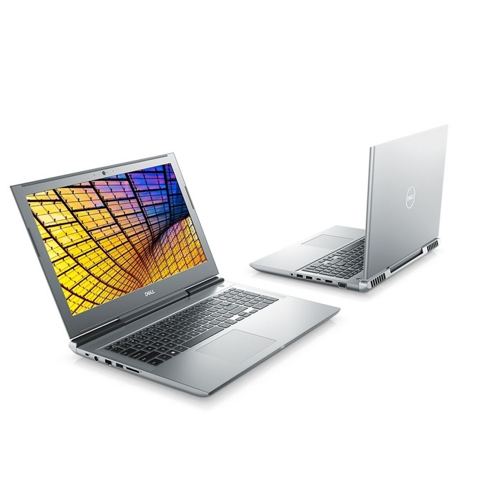 "Лаптоп Dell Vostro 7580 (N3403VN7580EMEA01_1905_UBU)(сребрист), шестядрен Coffee Lake Intel Core i7-8750H 2.2/4.1 GHz, 15.6"" (39.62 cm) Full HD IPS Display & GF GTX 1060 6GB, (HDMI), 8GB DDR4, 1TB HDD & 128GB SSD, 1x Thunderbolt 3, Linux image"