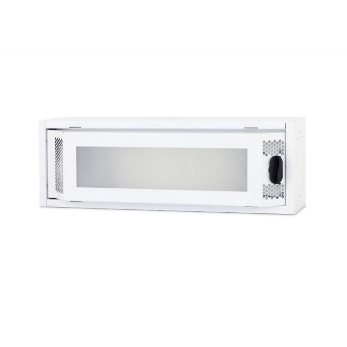 Комуникационен шкаф Triton RNA-01-A51-YXX-X1, 500 x 110 x 166 мм, предна стъклена врата, IP20 защита, бял image
