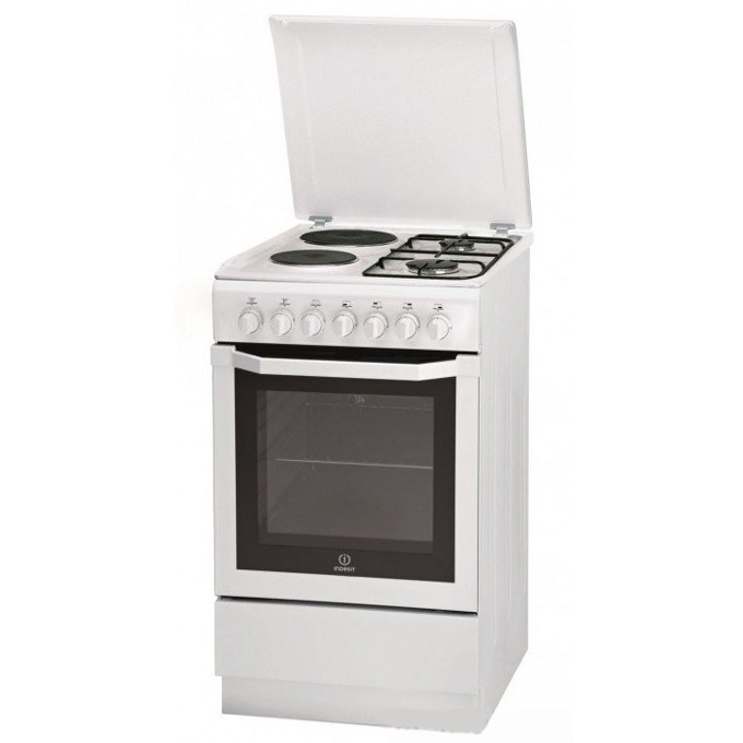 Готварска печка Indesit I5NSH2AE(W)KZ, 2х газови котлони, 2х електрически котлони, 54 л. обем, image