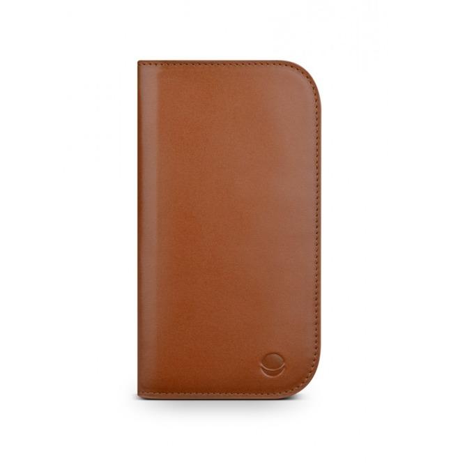 Калъф за Apple iPhone 5/5S/SE, Flip Wallet, кожа, Beyza PocketBook M, кафяв image