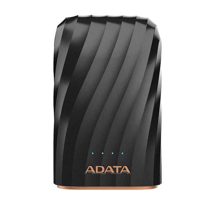 Външна батерия /power bank/ Adata P10050C, 10050 mAh, 2x USB-A(ж), 5V/2.4A, черна, USB-C кабел image