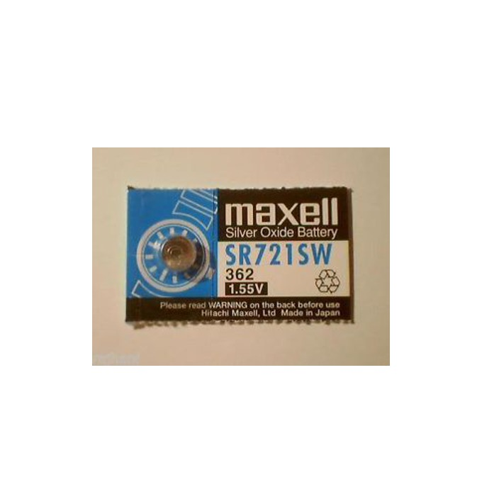 Батерия сребърна Maxell SR, SR721SW, 1.55V, 1 бр. image
