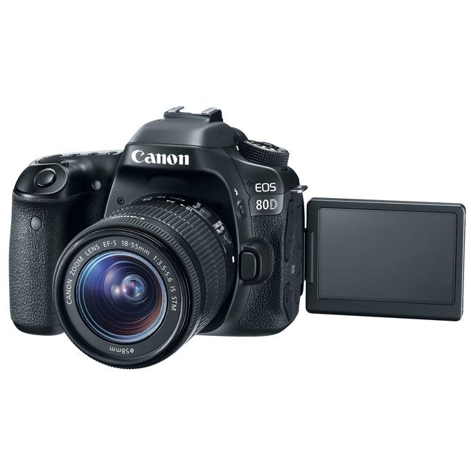 "Canon EOS 80D в комплект с обектив Canon EF-S 18-55mm f/3.5-5.6 IS STM, прахоустойчив, 24.2Mpix, 3.0""(7.62cm) LCD Display, FullHD Video, Wi-Fi/NFC, microUSB, micro HDMI, SDXC (UHS-I) слот, гнездо за слушалки image"