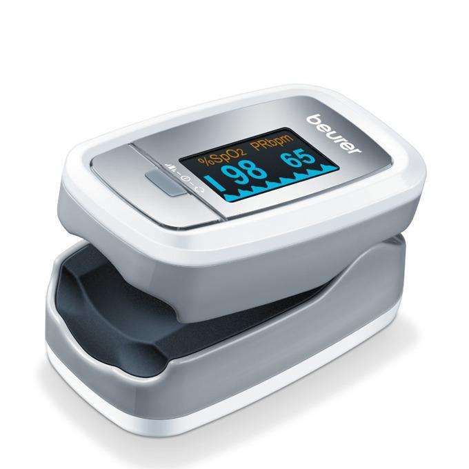 Уред за измерване на пулс и кислород в кръвта Beurer - Графично показване на пулса, цветен дисплей image