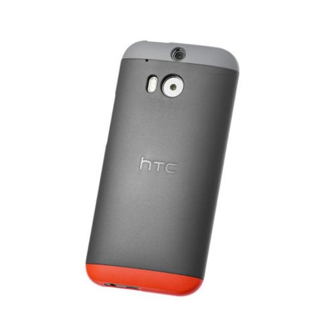 Калъф за за HTC One 2 (M8), Поликарбонатов протектор, пластмаса, HTC Double Dip, сив image