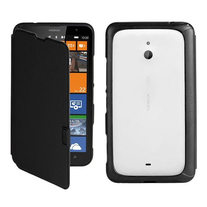 Калъф за Nokia Lumia 1320, Flip Cover, Slim, черен image