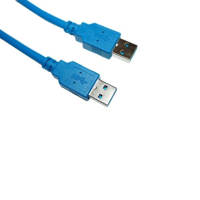 Кабел VCom CU303, от USB A(м) към USB A(м), 1.8m, син image
