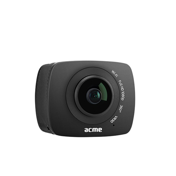 Видеокамера Acme VR30, Full HD 360° camera, 0.96'' (2.43 cm) LCD дисплей, micro USB, Wi-Fi, microSD slot, черна image
