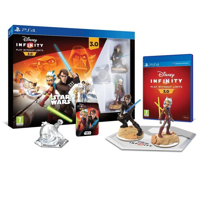 Disney Infinity 3.0: Star Wars Starter Pack, Съдържа : Disney Infinity база, Disney Infinity 3.0 - софтуер на играта, Фигура Ahsoka Tano, Фигура Anakin Skywalker, Кристал за отключване на режима Play Set, за PS4 image