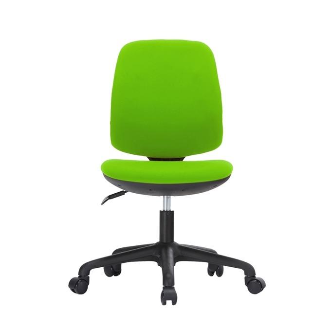 Детски стол RFG Lucky Black, дамаска, зелена седалка, зелена облегалка image