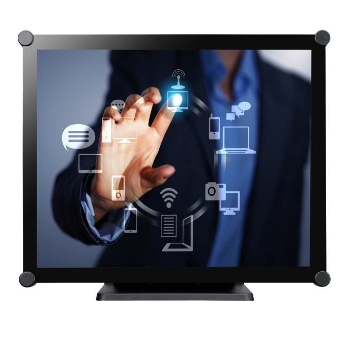 """Монитор AG NEOVO TX-19, 19""""(48.26 cm), TN тъч панел, SXGA, 3ms, 1000:1, 250 cd/m2, VGA, DVI-D, USB, черен image"""
