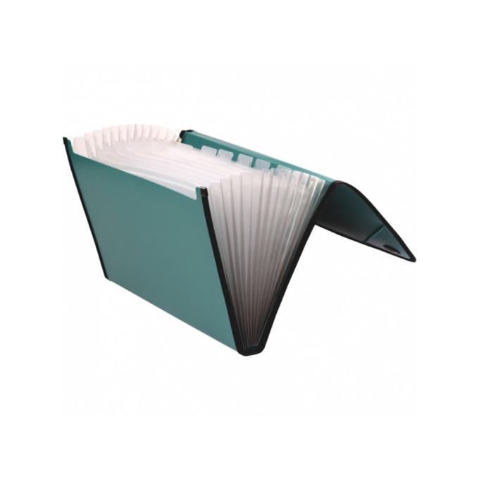 Папка Centrum, за документи с формат до А4, с ластик и 13 джоба, различни цветове image