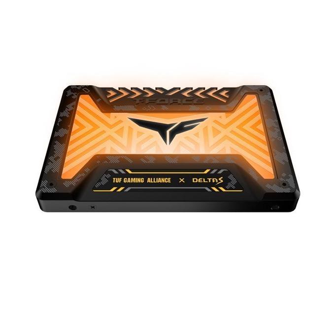 "Памет SSD 500GB Team Group Elite T-Force Delta S TUF Gaming RGB, SATA 6Gb/s, 2.5""(6.35 cm), скорост на четене 560MB/s, скорост на запис 510MB/s image"