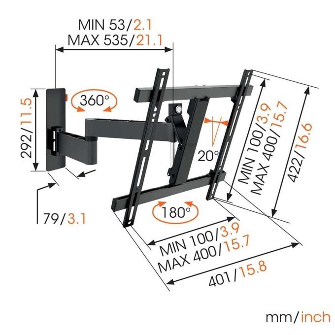Vogels W5307 Full Motion TV Wall Mount