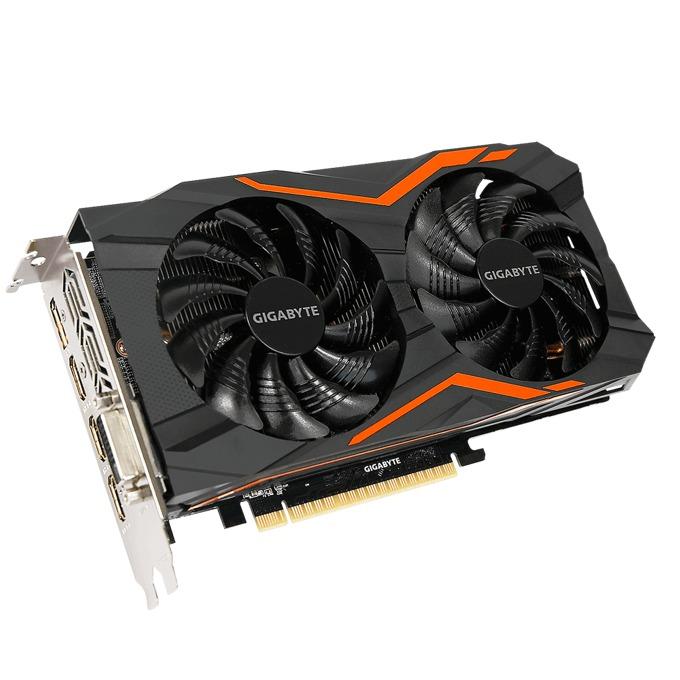 Видео карта GeForce GTX 1050 Ti, 4GB, Gigabyte, PCI-E 3.0, GDDR5, 128-bit, Display Port, 3x HDMI, DVI image