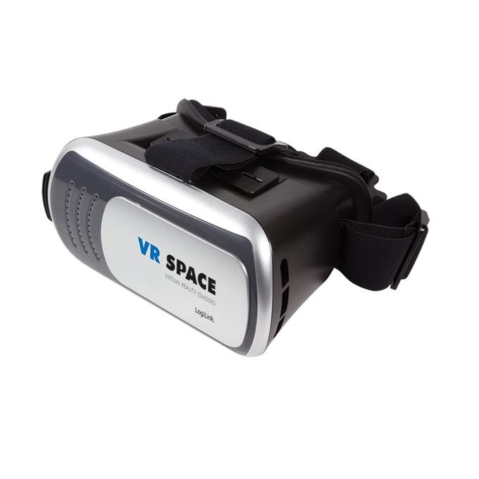 """Очила за виртуална реалност LogiLink VR-SPACE 3D AA0088, HD оптични акрилни лещи, съвместими със смартфони с диагонал от 4"""" до 6"""", 3D ефект image"""