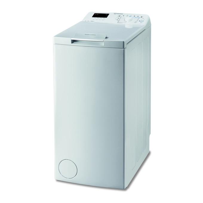 Перална машина Indesit BTW D61253 (EU), клас A+++, 6 кг. капацитет, 1200 оборота в минута, 12 програми, свободностояща, 40 cm. ширина, Smart Check, бяла image