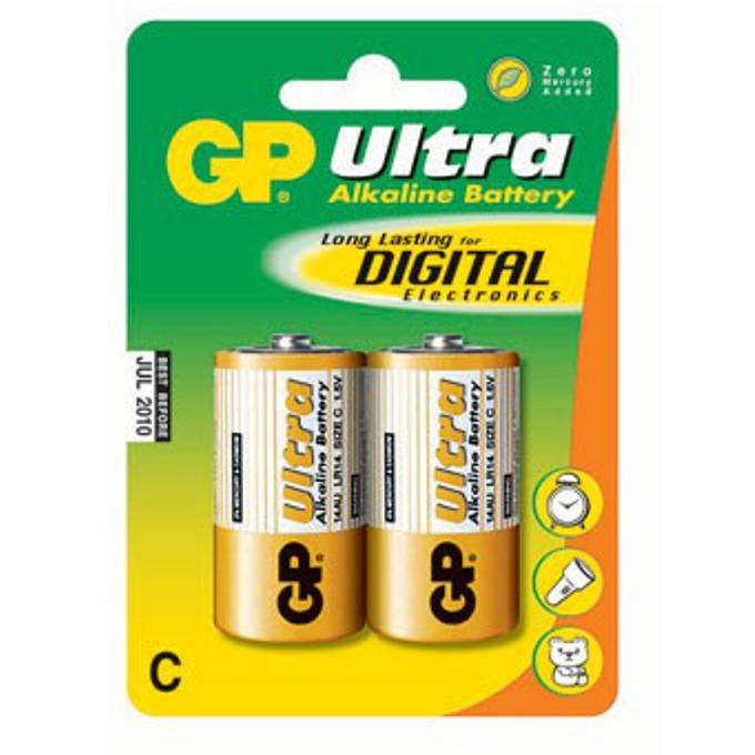 Батерии алкални GP Ultra LR14(C), 1.5V, 2 бр.  image
