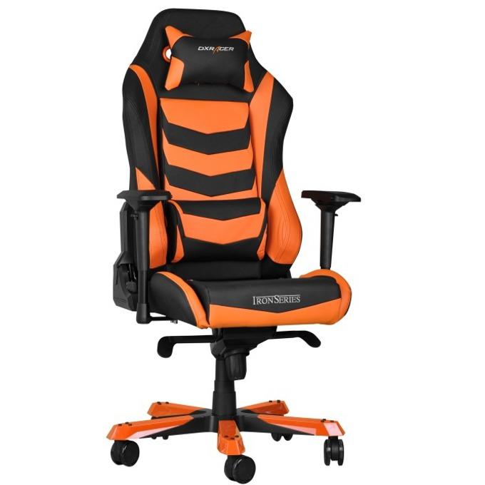 Геймърски стол DXRacer Iron OH/IS166/NO, черен/оранжев image